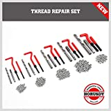 SEDY 131-Pieces Thread Repair Kit, HSS Drill