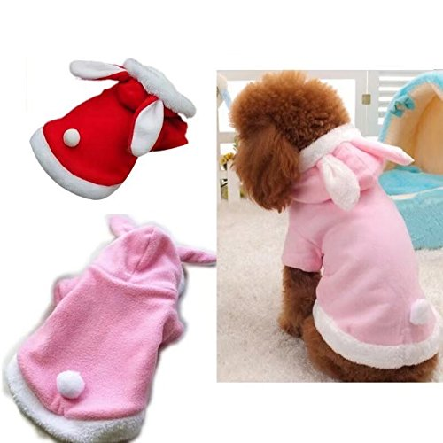 Easter Bunny dog Costume puppy hoodies dog clothes for small dogs cats (color : pink, size : xl)