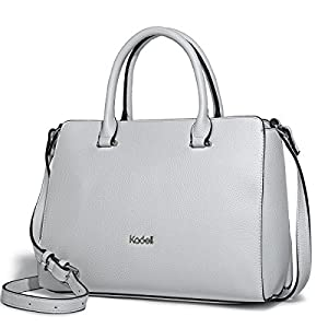 Kadell Women's Vintage Soft PU Leather Handbag Tote Satchel Shoulder Bag Top Handle Purse White
