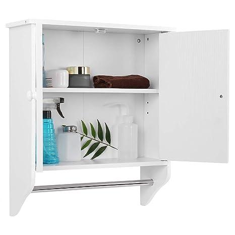 Armario de baño, montaje en pared, de madera, mueble de almacenamiento para cocina