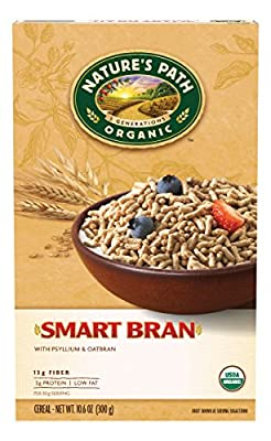 Nature's Path Organic Cereal, Smart Bran with Psyllium & Oatbran, 10.6 Ounce Box (Pack of 6) by Nature's Path