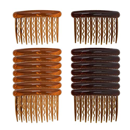 16 Pieces Plastic Teeth Hair Combs Pin Hair Combs Clips for Women