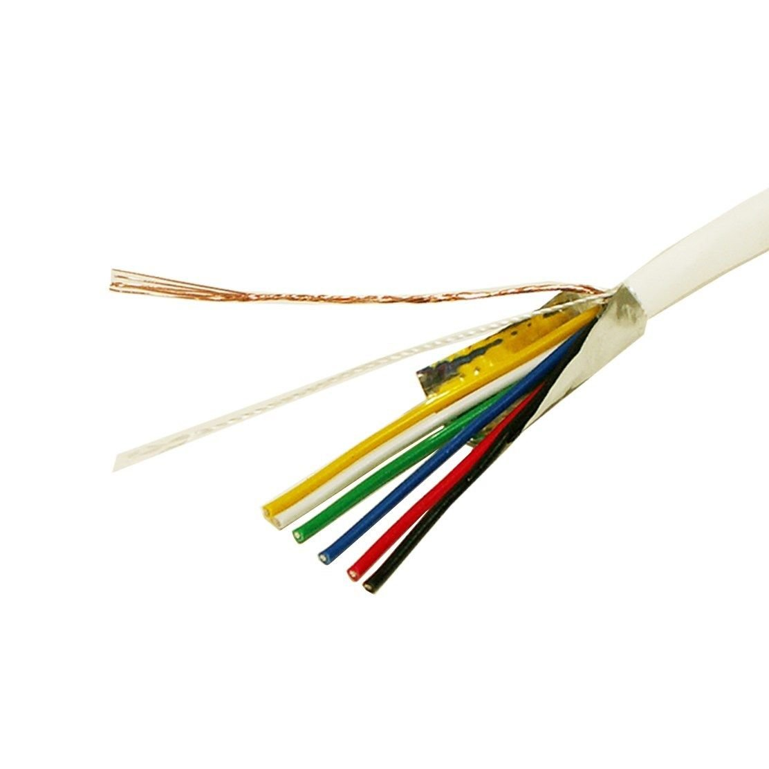 22/6 500FT 22AWG GAUGE 6 STRANDED CONDUCTOR SHIELDED WHITE CONTROL ...