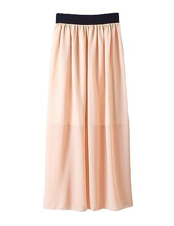 Señoras Estilo Coreano Boho Plisado Retro Maxi Falda Vestido Mode ...