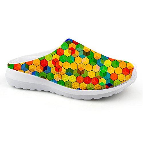 Bigcardesigns Mode Multicolor Dames Zomersandalen Ademend Mesh Instappers Schoenen Style2