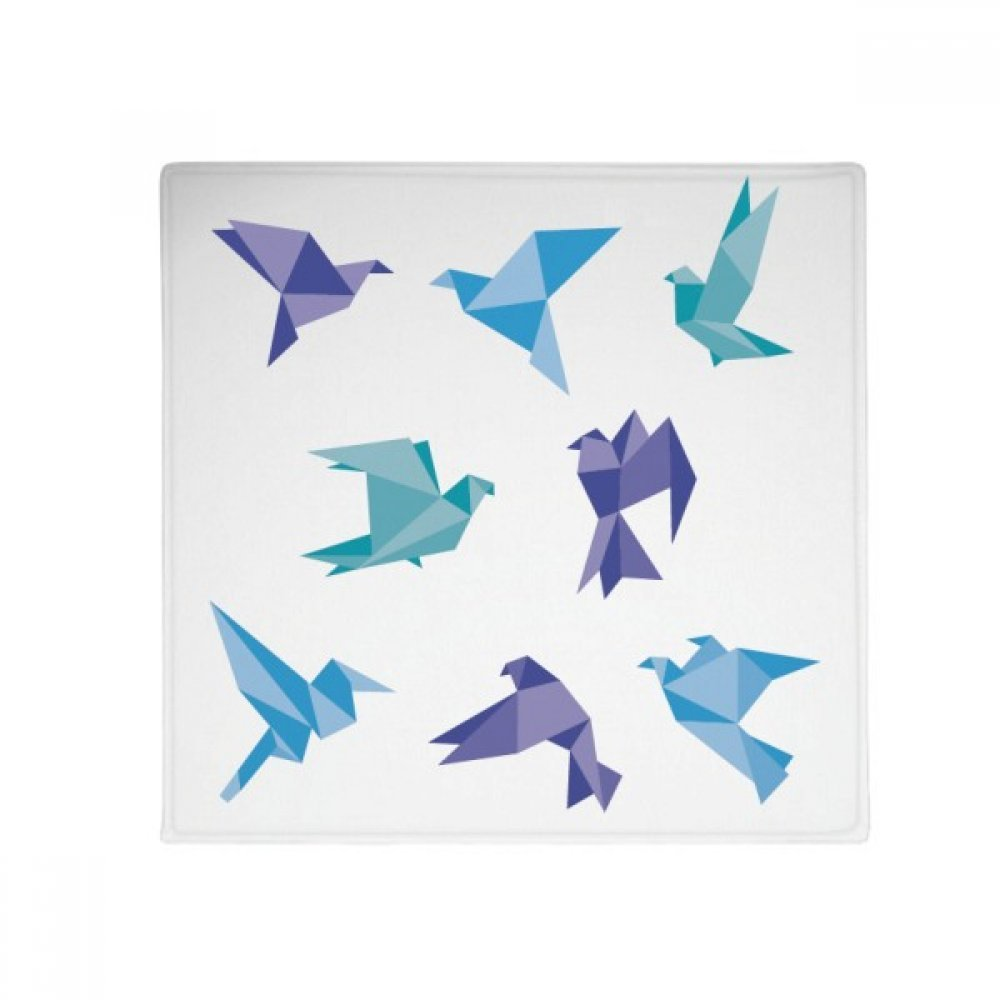 DIYthinker colorful Origami Abstract Pigeon Pattern Anti-Slip Floor Pet Mat Square Home Kitchen Door 80Cm Gift