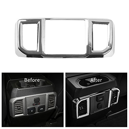 Voodonala Chrome Rear Air Condition Outlet Vent Covers Trim for Ford F150 2016 2017