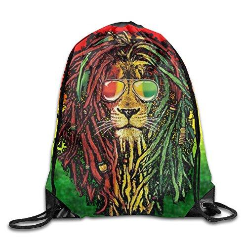 Rasta String (Rasta Lion Cool Unisex Drawstring Backpack Travel Sports Bag Drawstring Beam Port Backpack.)