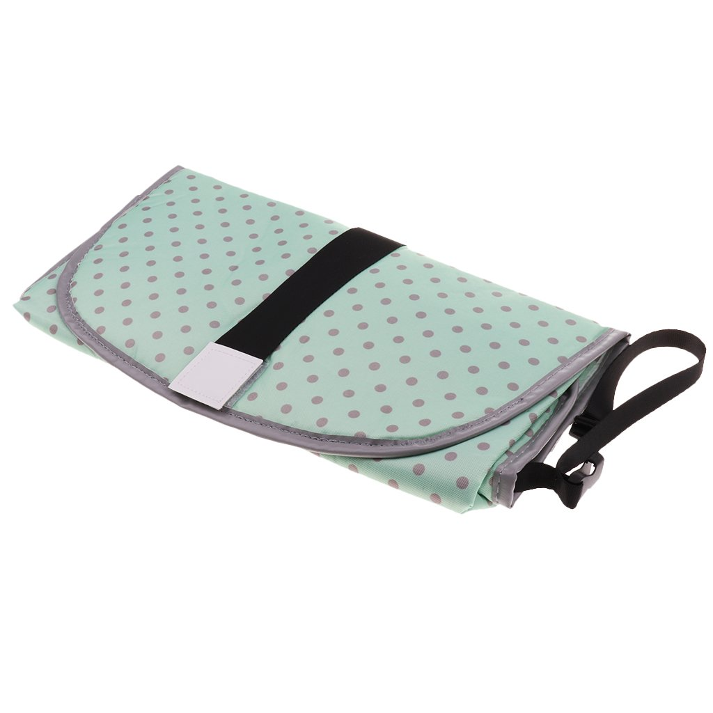Homyl Baby Nappy Diaper Bag Changing Change Clutch Mat Foldable Pad Handbag Wallet - White+Black, as described