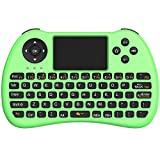 (Upgraded Version) Aerb 2.4GHz Mini Wireless Keyboard with Mouse Touchpad Rechargeable Combos for PC, Pad, Google Android TV Box and More (NonBacklit-Green)