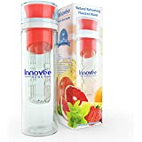Innovee Infusion Water Bottle - Premium Quality BPA Free Infuser Bottle - 24 Oz - 3 Colors - TRITAN Material That Will Not Break, Scratch or Crack - Create Your Own Infused Flavored Water