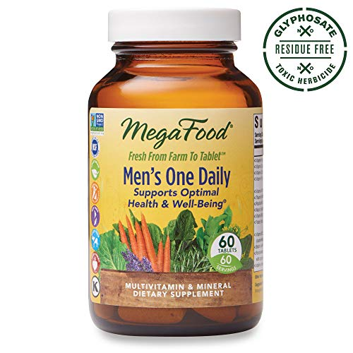 MegaFood, Men's One Daily, Daily Multivitamin and Mineral Dietary Supplement with Vitamins B, D and Zinc, Non-GMO, Vegetarian, 60 tablets (60 servings)