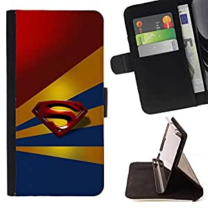 DEVIL CASE - FOR LG G2 D800 - Superhero Crest - Style PU Leather Case Wallet Flip Stand Flap Closure Cover