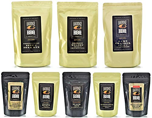Oakridge BBQ The Ultimate Back Yard BarBQ Kit – Contains Eight (8) of the Most Popular Barbeque Rubs and Seasonings by Oakridge BBQ (Image #9)