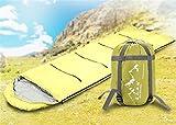 Ultra-light Outdoor Sleeping Bag for Summer Season Envelope Sleeping Bag (Green)