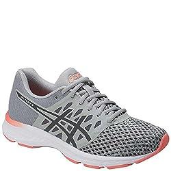 Asics Womens Gel-exalt 4 Running Shoe, Greycarbonpink, 9 B(m) Us
