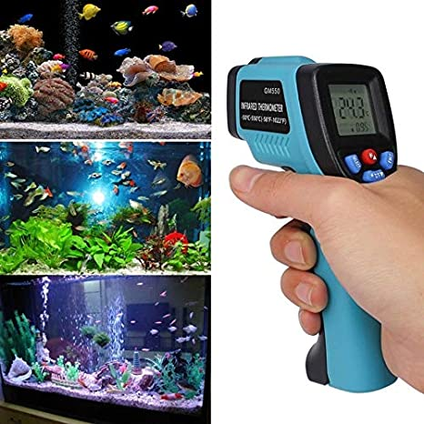 No Productos domésticos GM550 práctico Indicador de Temperatura Digital termómetro infrarrojo del pirómetro del termómetro del Acuario al Aire Libre