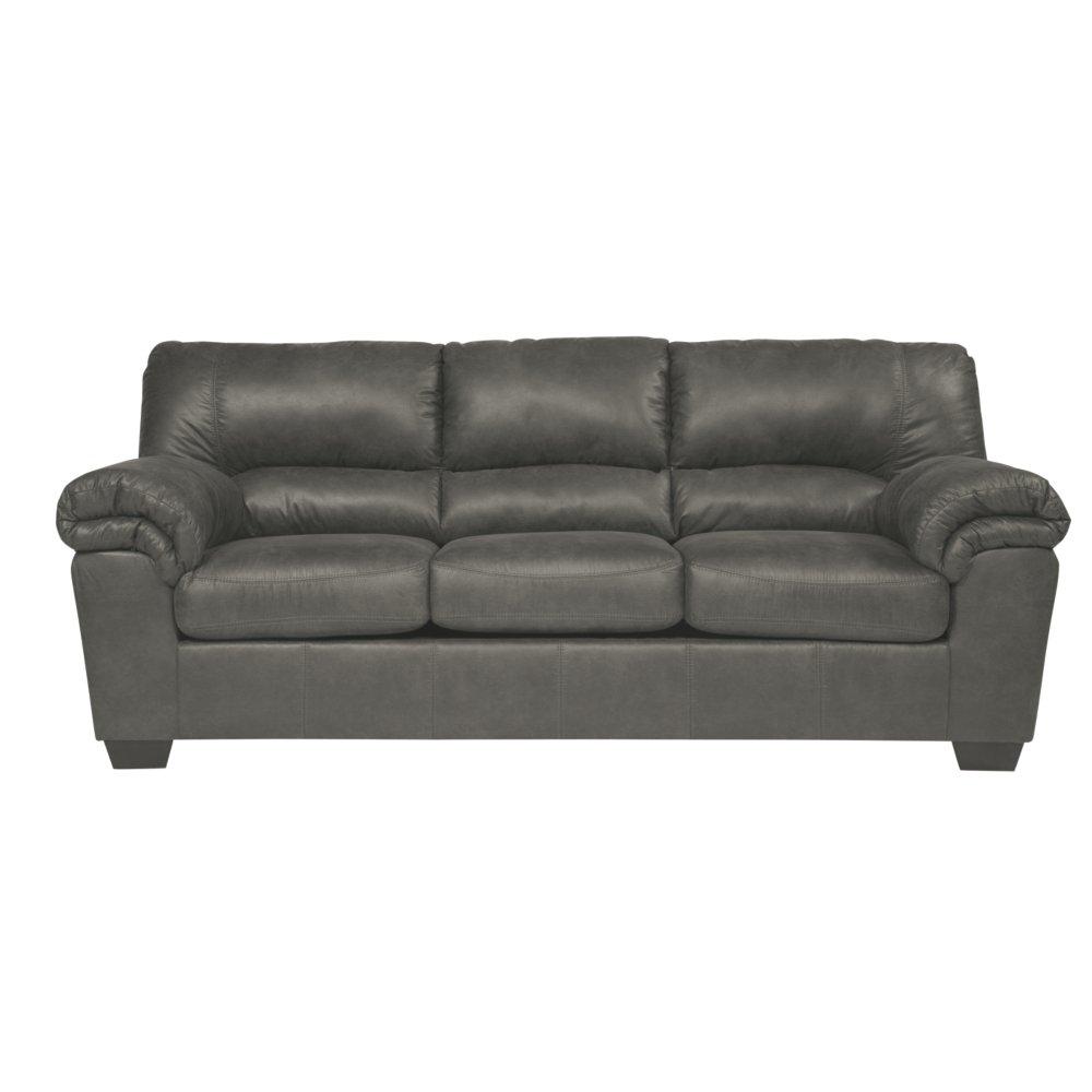 Ashley Furniture Signature Design - Bladen Contemporary Plush Upholstered Sleeper Sofa - Full Size Mattress Included - Slate Gray