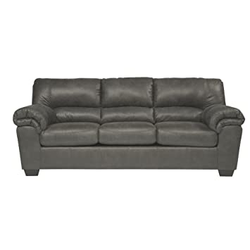 Ashley Furniture Signature Design   Bladen Contemporary Plush Sofa Sleeper    Full Size   Slate Gray