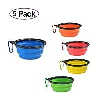 Deals on 5-Pack DEGOL Collapsible Dog Bowls