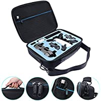 Carrying Case For DJI SPARK - MASiKEN Hardshell Handbag Suitcase Storage Bag with Belt for DJI Spark Drone Body Remote Control, Extra Batteries, Charger and Other Accessories