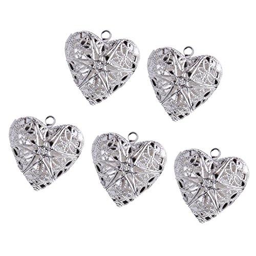 Open Filigree Heart Locket - 5