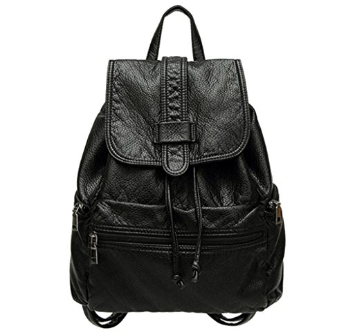 Great Strange Sacchetto doppio della spalla della borsa degli allievi delle borse dell'allievo PU Shopping Simple Shopping Black 30 * 28 * 13cm