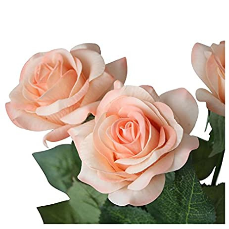 Amazon sodialr artificial rose flowers wedding bouquet bridal amazon sodialr artificial rose flowers wedding bouquet bridal decoration bundles 12pcs rainbow color home kitchen junglespirit Images