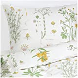 strandkrypa 2 piece twin duvet cover and pillowcase floral patterned white ikea
