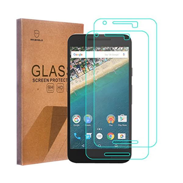 Mr Shield Tempered Glass Screen Protector for LG (Google) Nexus 5X 2015, 2-Pack