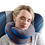 BCOZZY Chin Supporting Travel Neck Pillow - Supports The Head, Neck Chin in in Any Sitting Position. A Patented Product. Adult Size, Gray