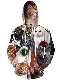 Men/Women Autumn Winter 3D Hoodie Full Zip Print Graphic Sweatshirts Pullover Casual Pocket Jacket