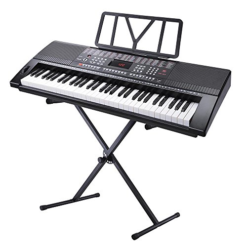 AW 61 Key Full Size Electronic Music Keyboard Kit with Stand