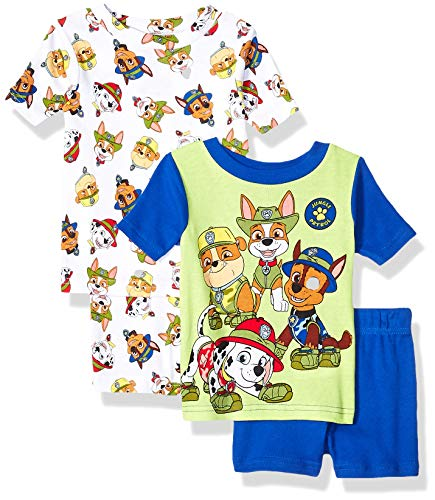 Nickelodeon Boys' Toddler Paw Patrol 4-Piece Pajama Set, White, 3T]()