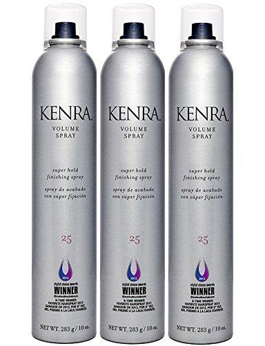 Kenra Volume Spray 25 Super Hold Finishing Spray 10 Oz 3 Pack