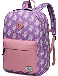 Backpack for Little Girls,Vaschy Preschool Backpacks for Kindergarten with Chest Strap Large Pink Unicorn