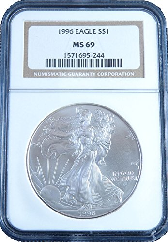 1996 American Silver Eagle Dollar NGC MS69