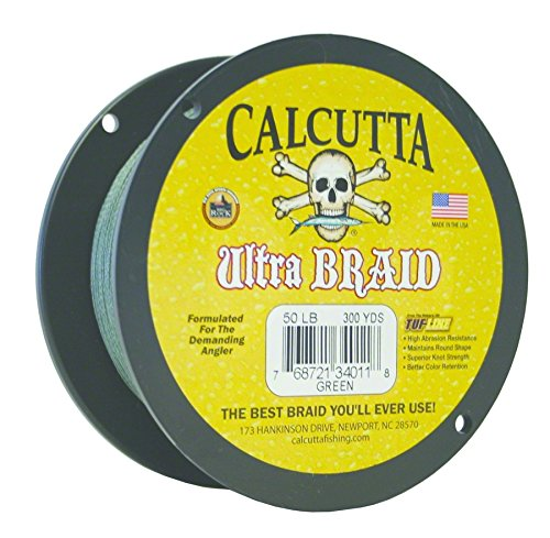 Calcutta Ultra 300 Yards Braid Line (50-Pounds, Green)