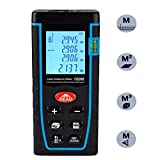 Laser Distance Measure, ieGeek 328ft Handheld Laser Distance Meter Laser Measuring Device,Pythagorean Mode,Area Volume Capacity Calculation Laser Tape Measure Rangefinder, LCD Display,Self-Calibration
