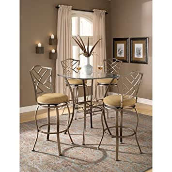 Bar Height Beveled Glass Bistro Table
