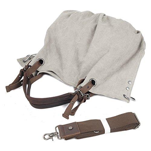 Borsa in tela di canapa da donna, P.KU.VDSL Borsa a tracolla di tela di canapa di Tote Hobo per la scuola di shopping della scuola