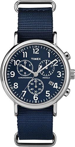 Timex Weekender Unisex-Adult Quartz Watch, Chronograph Display and Nylon Strap -