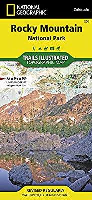 Rocky Mountain National Park Hiking Map: Trails Illustrated ...