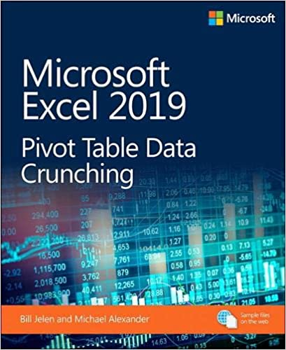 microsoft excel 2019 pivot table data crunching business skills