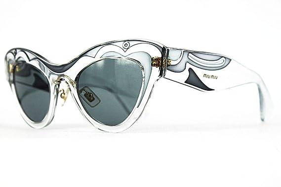 Amazon.com: Miu Miu mu07ps sunglass-tis/3 C2 transparente ...