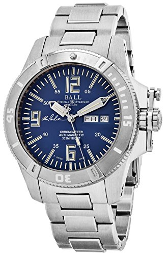 Ball Engineer Spacemaster Captain Poindexter Blue Face Day Date Automatic Mens Swiss Stainless Steel Bracelet Limited Edition Watch DM2036A-S5CA-BE