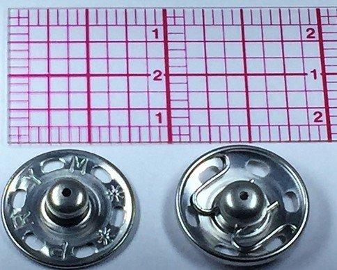 Sew-on Snap Size 10 Silver 18set Prym Dritz 3/4''. by Prym Dritz