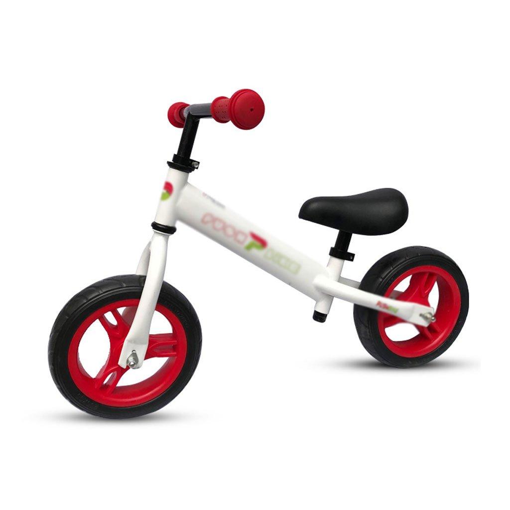 ベビースクーターペダルバランスなし車バギー子供スクーターペダルなし子供スクーターベビースクーター2ラウンドウォーカー2色1-3-6歳 B07F35RGP3Red