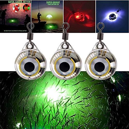 Gr/ün ARDUTE Small Size Angelscheinwerfer Night Fluorescent Glow LED Unterwasser-Nachtlichtk/öder zum Anlocken von Fischen LED Angelzubeh/ör