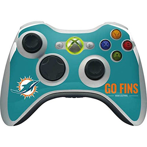(Skinit NFL Miami Dolphins Xbox 360 Wireless Controller Skin - Miami Dolphins Team Motto Design - Ultra Thin, Lightweight Vinyl Decal Protection)